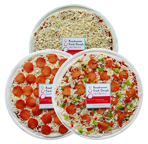 Shrink Wrapped Take-N-Bake Pizzas
